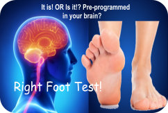 Mind Games Health Right Foot Test