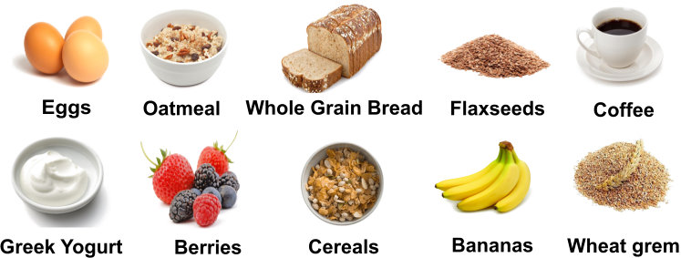 Healthly breakfast foods